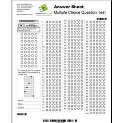 Answer Sheets Printing Services in India