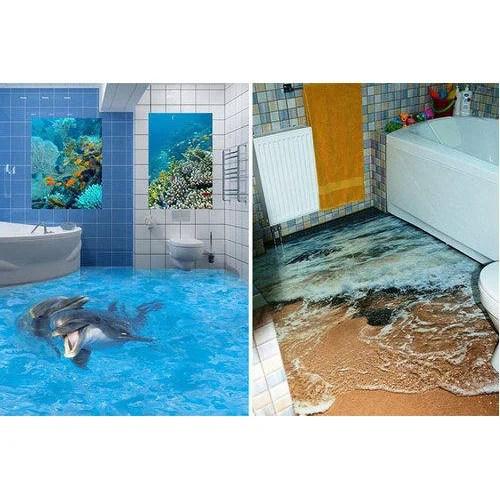 3d Bathroom Printing Tile Size 8x4 Feet Rs 1000 Square Feet M S Advertising Id 19186402788