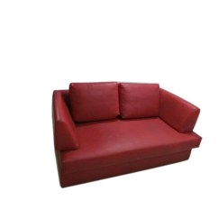 Red Leather Two Seater Sofa Corrugated Cardboard Living Room Rs 5000 Seat Kl Interiors