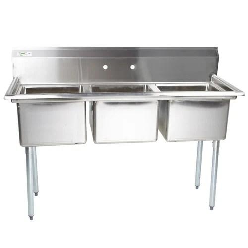 triple kitchen sink how to refurbish cabinets bowl ss स ट नल