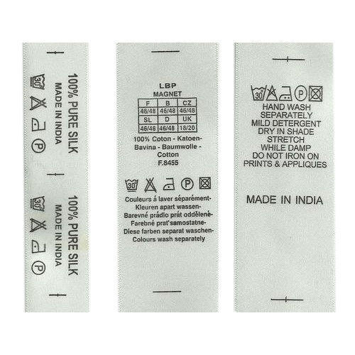 garments clothing care label
