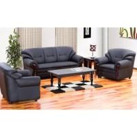 black Branded Damro Sofa Set 3 1 1, Size standard size 3 ...