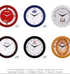 plastic round wall clock