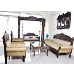 wooden sofa designs for living room sleeper set 5 seater carved manufacturer from new delhi designer including swing get best quote