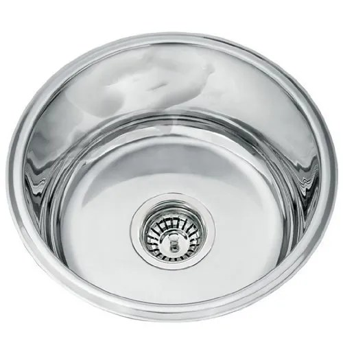 stainless steel round bowl sink