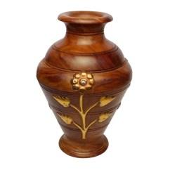 Living Room Flower Vases Design Online Wooden Vase For Lakdi Ka Guldaan लकड