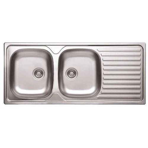 ss double bowl kitchen sink
