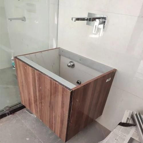 Om Floor Mounted Wooden Bathroom Vanities Size 2x3 Feet Rs 6000 Piece Id 21817970073