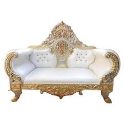 Wedding Sofa Semi Circular Uk White And Golden Fancy Rs 21000 Piece Parshwa Art