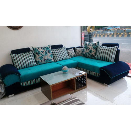 sofa blue color corner bed at argos pinewood sky and navey l shape rs 29000 set