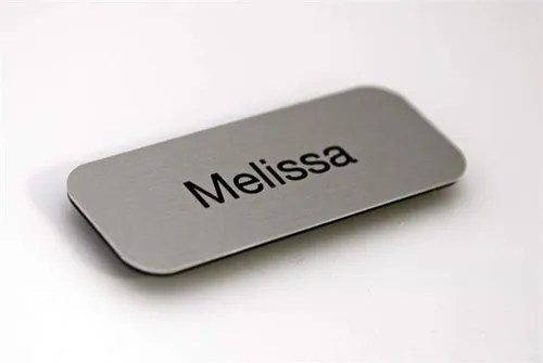 Metal Name Badges. Size: 2.5 Inch. For Corporate Use. Rs 25 /piece   ID: 20312813230