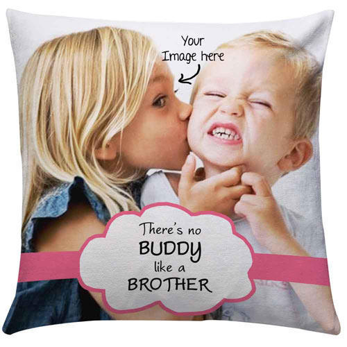 personalize brother image cushion