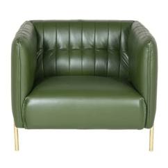 Barletta Sofa Light Colored Leather Green And Silver Aluminium Armchair Id 20228720491