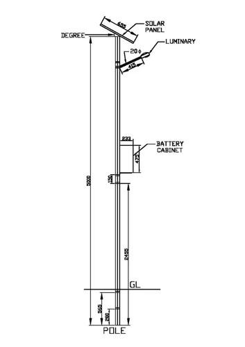 18 W Solar Street Light Pole Set, IP Rating: 55 & 66, Rs