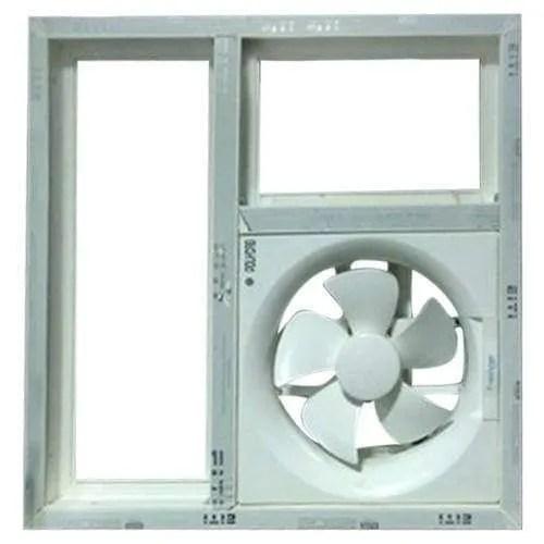 upvc ventilator window with exhaust fan