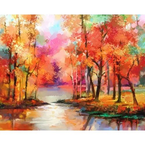 the autumn trees painting