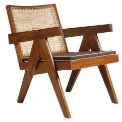 Le Corbusier Chair Folding Metal Yoga Replica Pierre Jeanneret Solid Teak Living Room