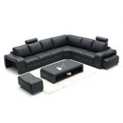 L Shaped Black Leather Sofa Set Slipcover For T Cushion 2 Piece B2 Furniture Rs 42000 Id