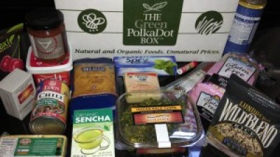 Green Polka Dot Box organic food assortment