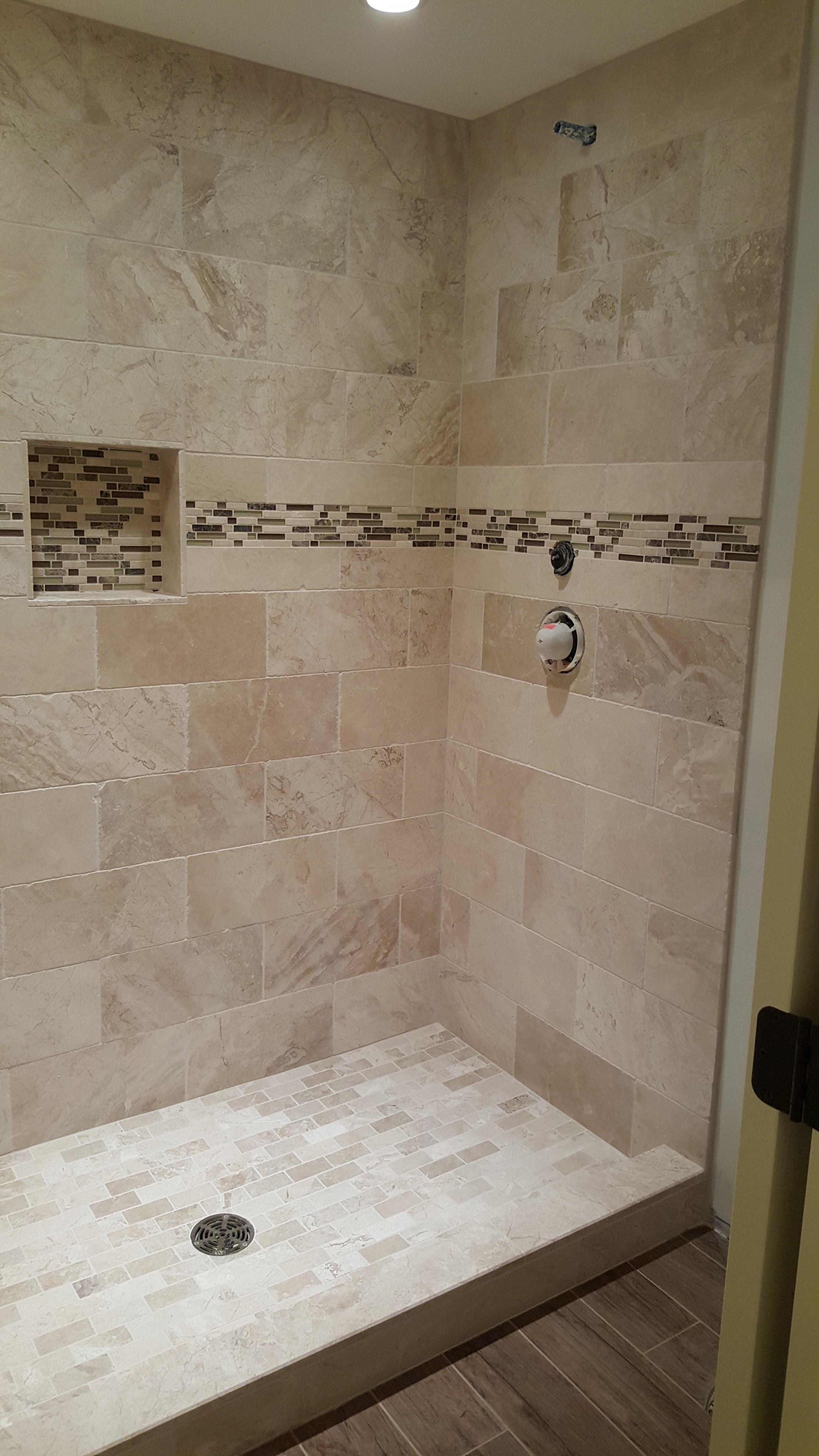 Heated shower tile floor installation with Ditra Heat « TOUCHDOWN TILE