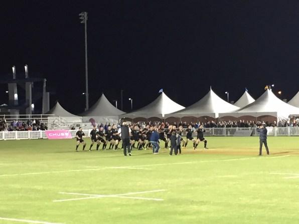 NZ team doing the Haka