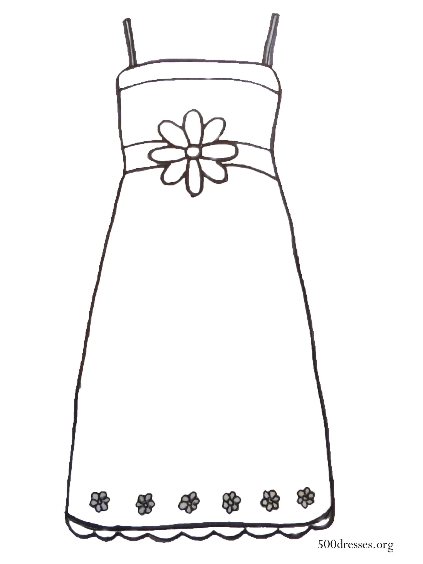 Dress Coloring Page 500 Dresses