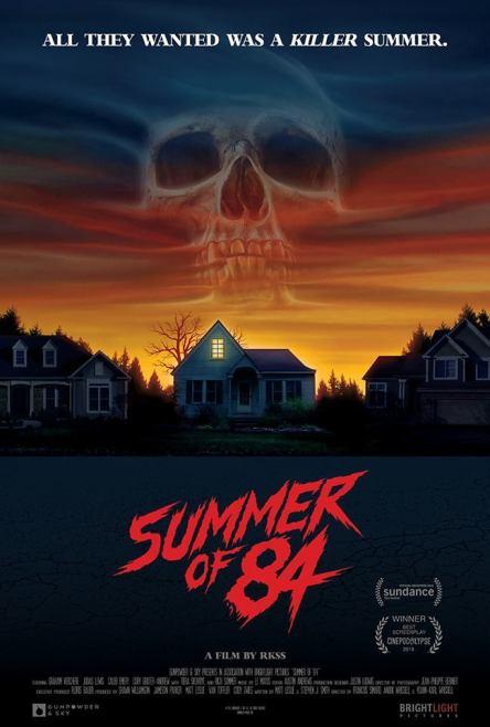 Plakat amerykańskiego filmu Lato 84 z 2018 roku
