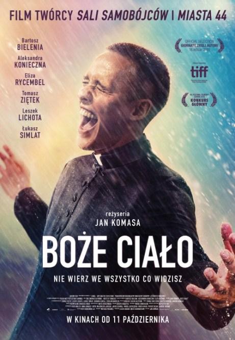 Plakat filmu Boże Ciało (2019, reż. Jan Komasa)