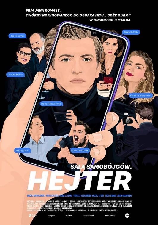 """Plakat filmy """"Sala Samobójców. Hejter"""" (2020)"""