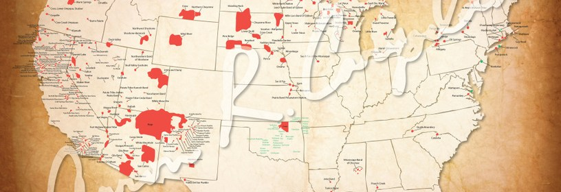 American Indian Reservations Map W Reservation Names 500 Nations - Map-of-reservations-in-us