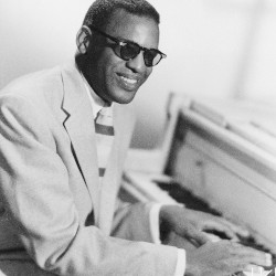 Ray Charles at a piano