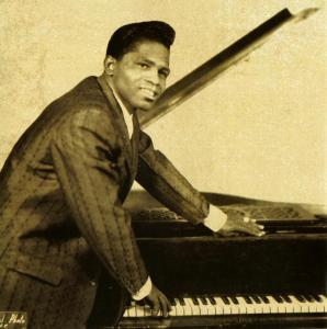 James Brown at a piano