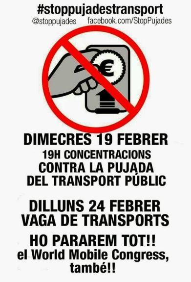 19-24 febrer stop pujades transport