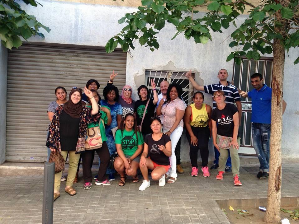Los Mossos actúan brutalmente en un desahucio de alquiler en Badalona