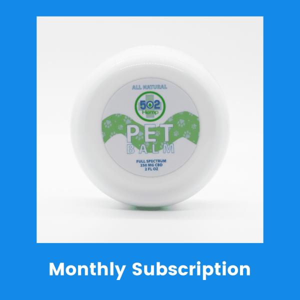 Pet CBD balm monthly