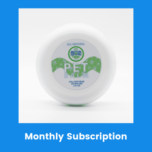 Pet CBD balm monthly