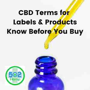 CBD Terms for Labels & Products