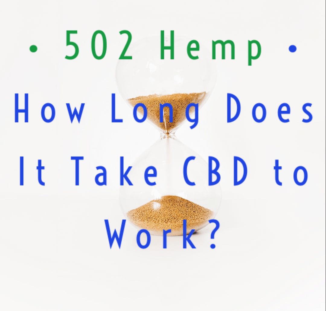 How long does it take CBD to work?