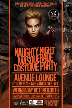 You're Invited to the Naughty Night Masquerade Costume Party