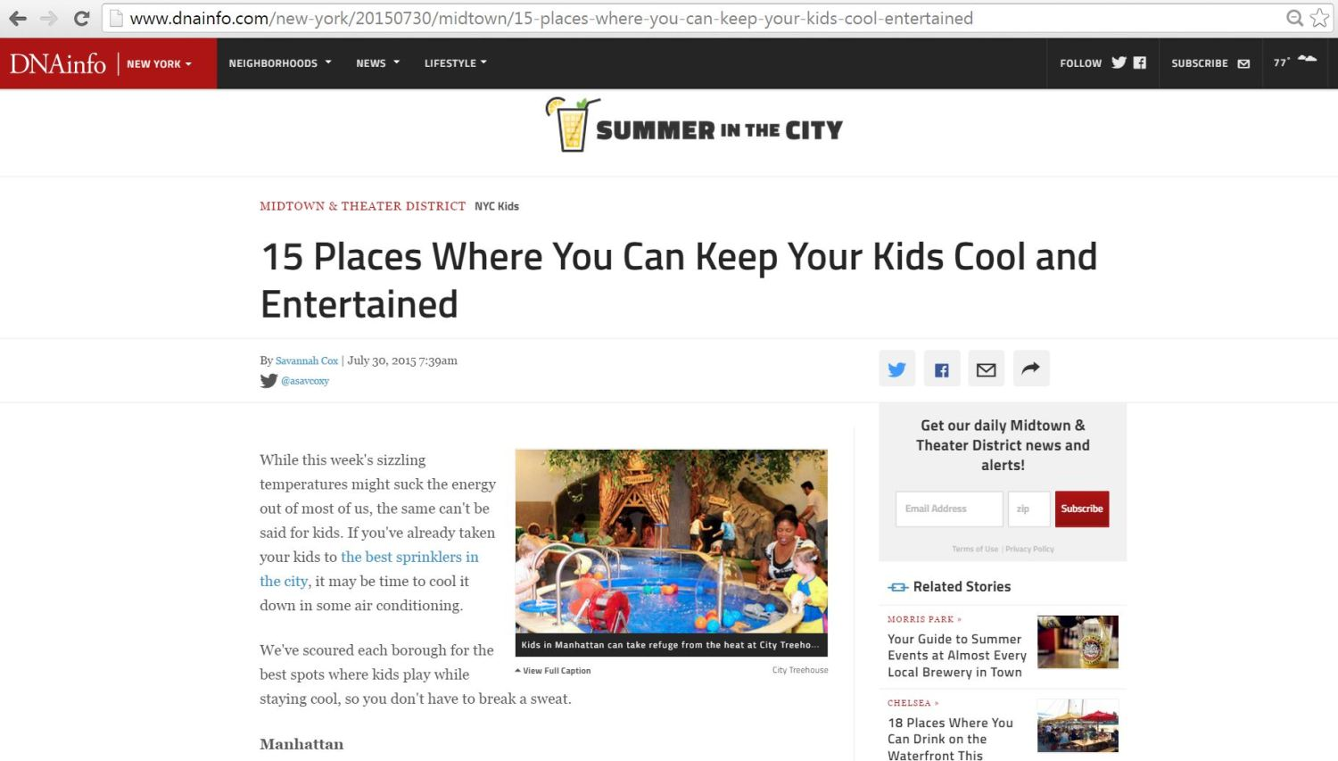 DNA Info 15 Places Where You Can Keep You Kids Cool and Entertained