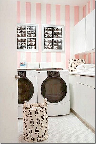 fun small laundry room