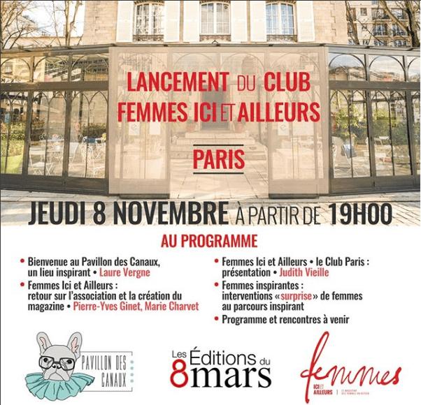 Lancement club femmes ici et ailleurs Paris
