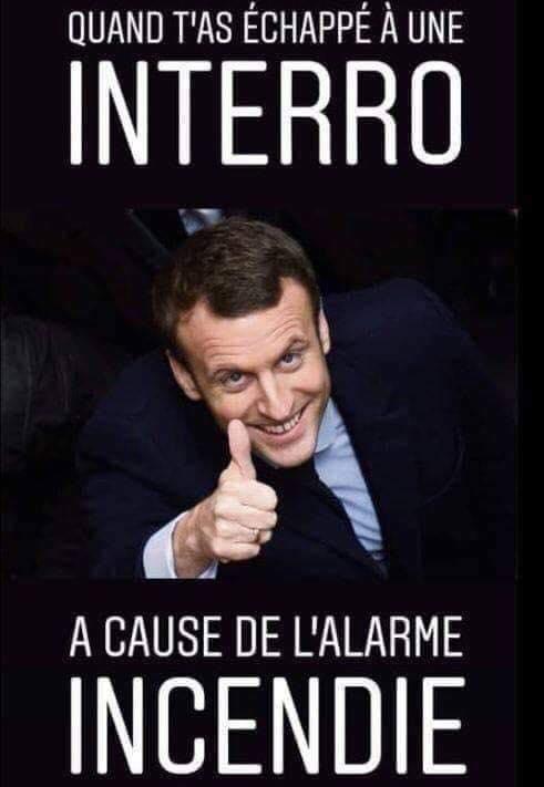 Macron Notre-Dame humour