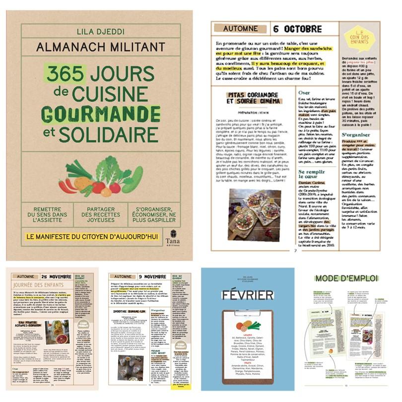 almanach militant 365 jours de cuisine gourmande et solidaire