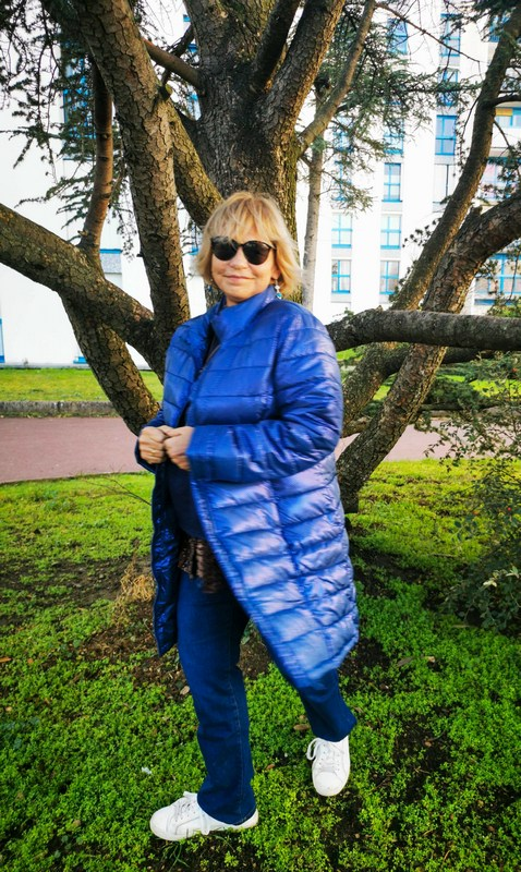 doudoune bleue Blanche-Porte
