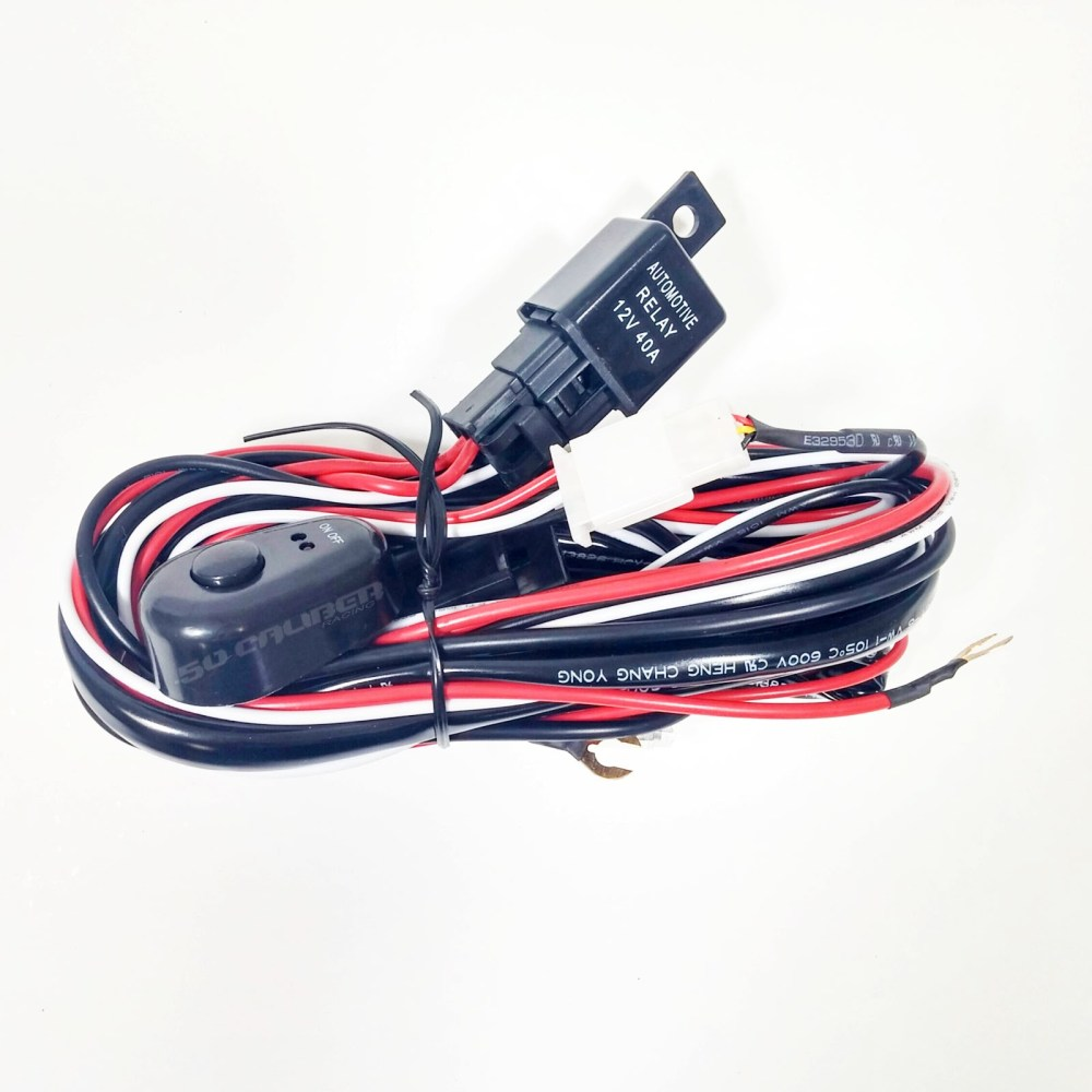 medium resolution of 12v wire harness kit with relay and switch