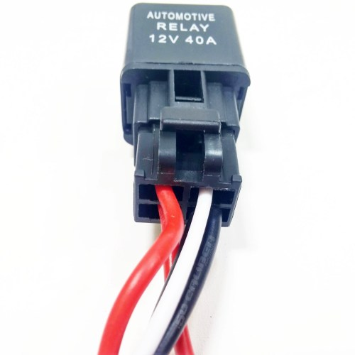 small resolution of  12v wire harness kit with 40 amp automotive relay