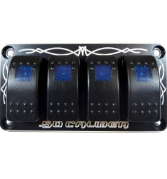 rzr 570 800 900 1000 turbo universal dash panel with switches jeep  [ 1600 x 1600 Pixel ]
