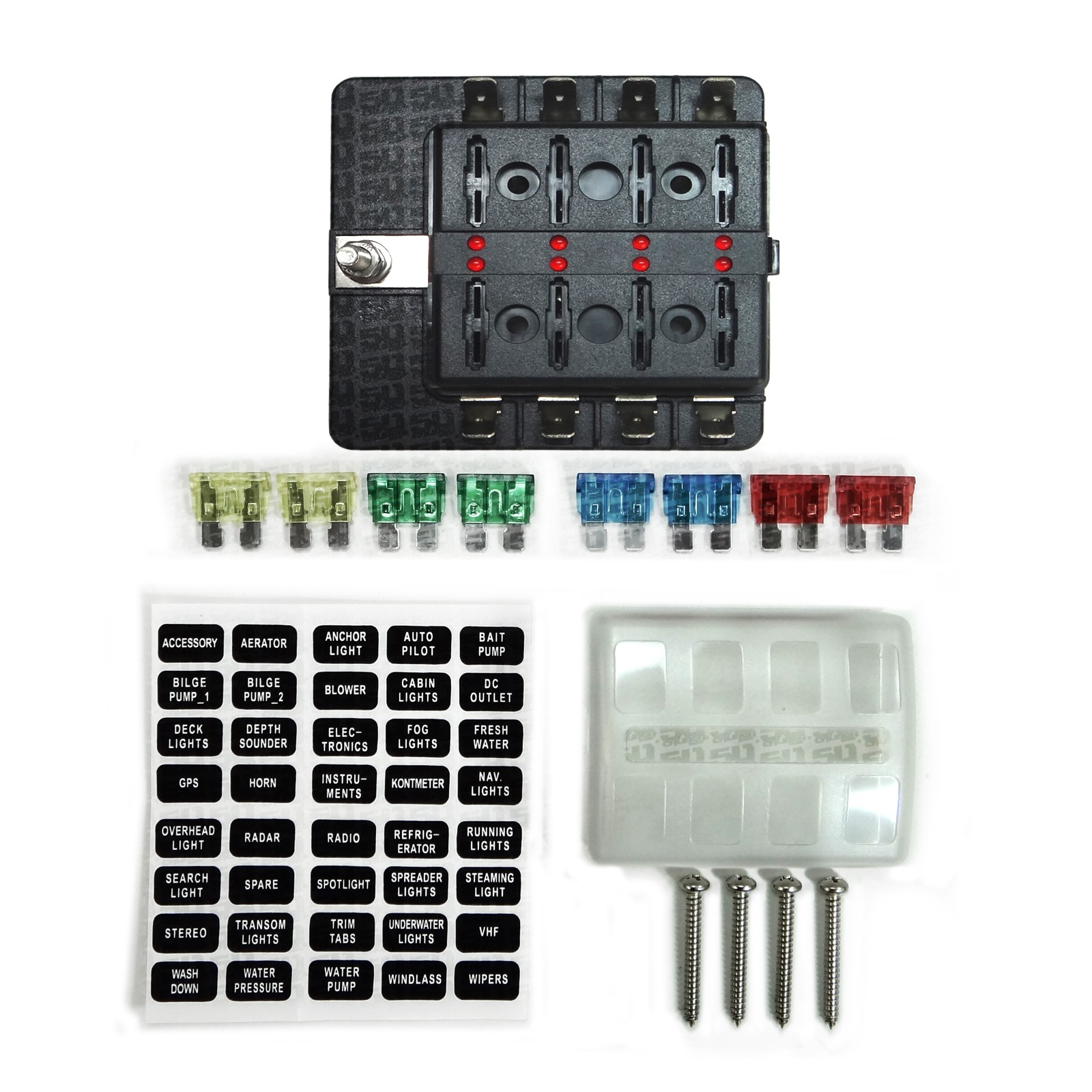 hight resolution of  8 way standard led circuit blade fuse box