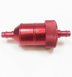 red anodized fuel filter  [ 1600 x 1600 Pixel ]